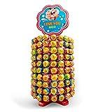 Chupa Chups Rueda personalizada con foto - Torre de 200 piruletas y 6 sabores diferentes