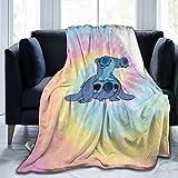 Lovely Fleece Blanket Warm Solid Blanket Sofa Bedding Blanket 50'x 40' for Men Women Indoor Outdoor