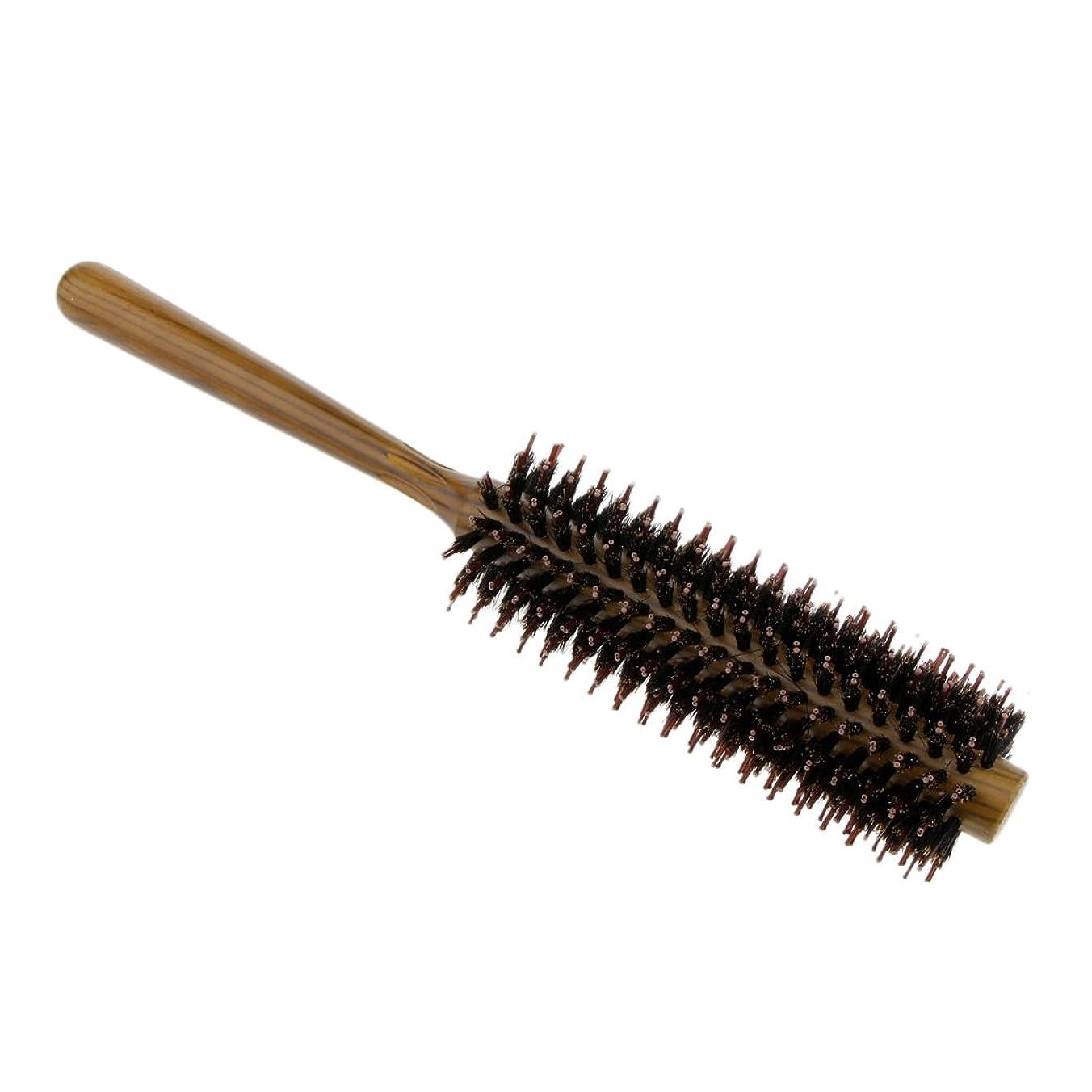 密度提唱する病気Perfk 3サイズ選べる ロールブラシ ヘアブラシ コーム 櫛 ヘアスタイリング 耐熱仕様 カール 巻き髪 便利 頭皮マッサージ - S