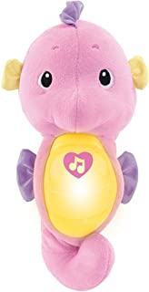 Fisher-Price Soothe & Glow Seahorse, pink, plush toy with music, ocean sounds and..
