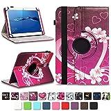 NAmobile Schutzhülle kompatibel für Huawei MediaPad T1 T2 T3 T5 10 Tablet Hülle Tasche Schutzhülle Case 360 Drehbar, Farben:Motiv 2