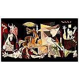 Dabbledown Cuadros Decorativos Guernica de reproducciones de Picasso, Carteles e Impresiones Famosos, Cuadros Abstractos de Arte de Pared para decoración del hogar 60X90CM
