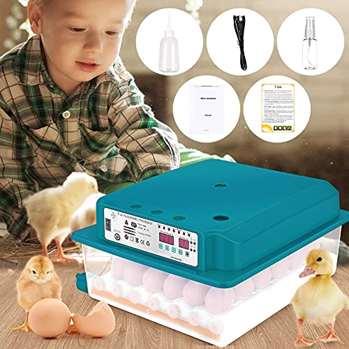 KOSIEJINN Incubatrice Per Uova - 36 Uova - Ribaltatore Automatico - Per Uova Garanzia Di Display a Led Digitali Automatico Per Polli, Anatre, Uccelli, Oche, Uova Di Quaglia