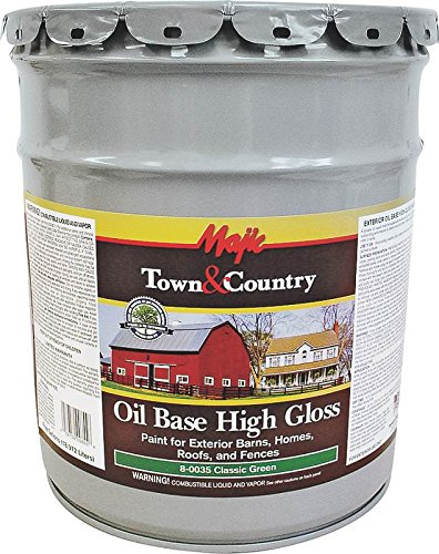 YENKIN MAJESTIC PAINT OB BHRF 8-0035-5 Oil Base Gloss BARN Home ROOF & Fence Green 5