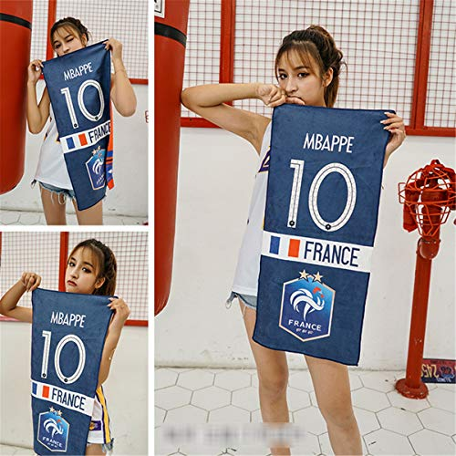 LSJTZ Mantas Kylian Mbappe Francesa de fútbol Callejero Equipo de Toalla de la Aptitud de Baile