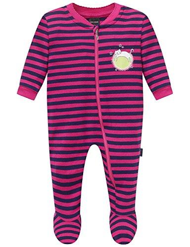 Schiesser AG Schiesser Baby-Mädchen Anzug mit Fuß Schlafstrampler, Rot (pink 504), 62 (Herstellergröße: 062)