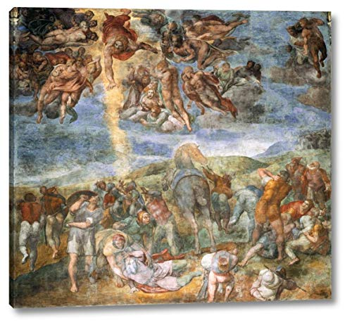 """The Conversion of Saul by Michelangelo - 22"""" x 24"""" Gallery Wrap Canvas Art Print - Ready to Hang"""
