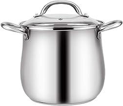 Crisol soeppan van roestvrij staal 304, binnen met deksel, onderkant bestaat uit drie lagen, voor gas-/inductiekookplaten,...