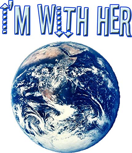 """I'm with HER (Mother Earth) Vinyl Decal Wall Laptop Bumper Sticker 5"""""""