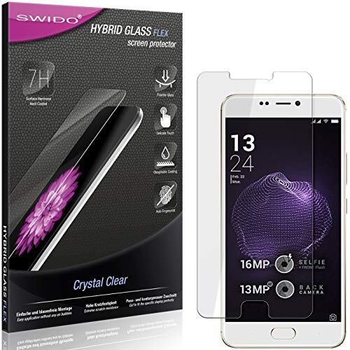 SWIDO Panzerglas Schutzfolie kompatibel mit Allview X4 Soul Style Bildschirmschutz-Folie & Glas = biegsames HYBRIDGLAS, splitterfrei, Anti-Fingerprint KLAR - HD-Clear