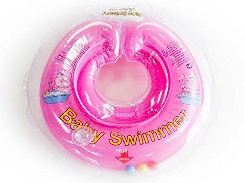 Baby Natación anillo para el cuello de 0a en 2tamaños y 10colores rosa rosa Talla:6 - 36 kg Körpergewicht