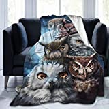 Owl Blanket Owl Blankets and Throws for Adults Owl Lover Soft Throw Blanket 60x80 Inch