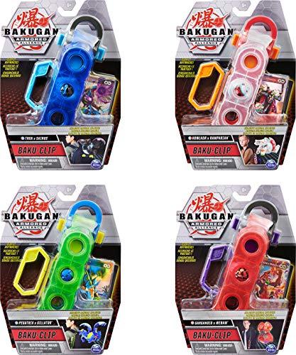 Bakugan Baku-Clip opbergaccessoire met exclusieve gesmolten Pegatrix x Gillator Bakugan, voor kinderen vanaf 6 jaar (stijlen variëren)