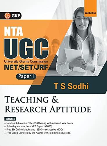NTA UGC (NET/SET/JRF ) 2021 : Paper I - Teaching & Research Aptitude 2ed