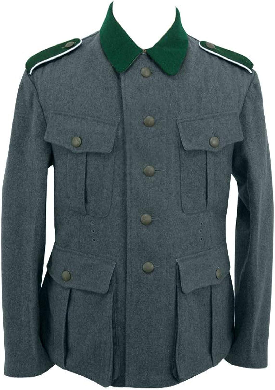 suministramos lo mejor Militaryharbor WW2 WWII German M36 EM - Túnica de de de Lana Italiana, Color Azul, verde y gris  Las ventas en línea ahorran un 70%.