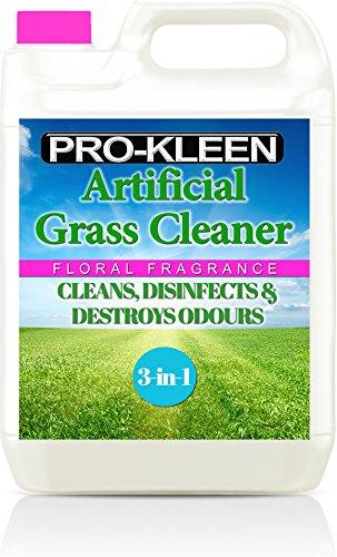 Pro-Kleen Limpiador de césped Artificial, Fragancia Floral, hogar con Perros, Limpia, desinfecta, desodoriza y fragancias, 5 litros, súper Concentrado: Hace 15 litros