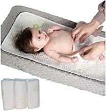 Waterproof Baby Changing Table Pads 3 Pack - Extra Soft Bamboo Baby Diaper Changing Liners - Leak-Proof - Stain Protective Cover for Changing Dresser- Absorbent and Perfect Baby Shower Gift Registry!