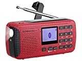 Retekess HR-11 Weather Radio AM FM Radio Emergency Radio Solar Power Dynamo H