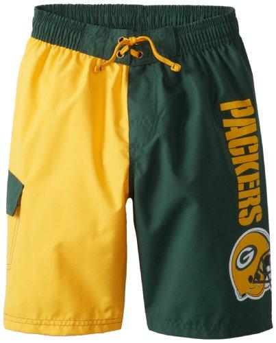 PEAKSEASON NFL Green Bay Packers Jungen Badehose, lizenziert, Grün, 4