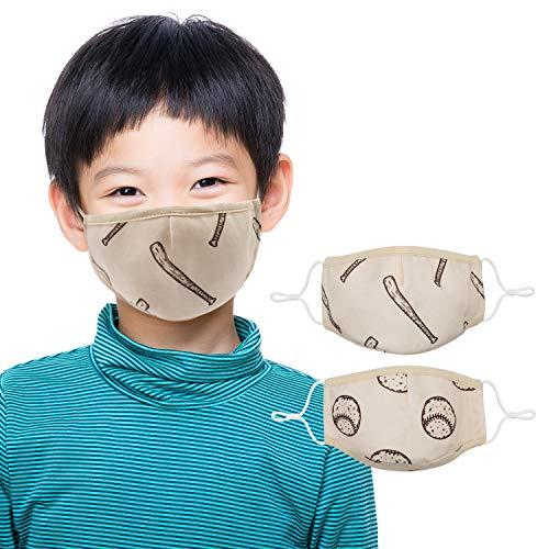 "Shark Face Mask for Kids (2 Pack) Ages 6-14 Cool Boys Face Mask Design | 3 Layers, Washable, Reusable, Adjustable Nose Wire, Ear Loops with Filter Pocket | Bonus: Zipper Storage Bag: 72"" Atalpha"