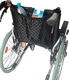 Pflegehome24® Rollstuhl Rollstuhlnetz Einkaufsnetz mit Innenfutter, schwarz