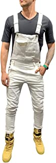 SGYANZLG Mens Denim Overalls Dungaree Bib Pants Button Overalls Pocket Jumpsuit Overall Suspender Pants Moto Biker Jeans P...