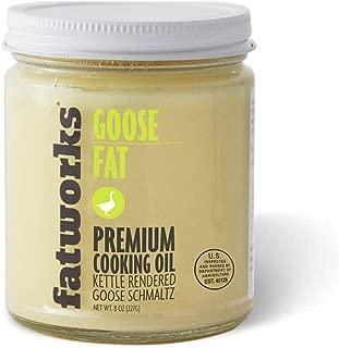 Fatworks, Traditional Goose Fat, Pasture Raised on US Family Farm, USDA, 7.5 oz.
