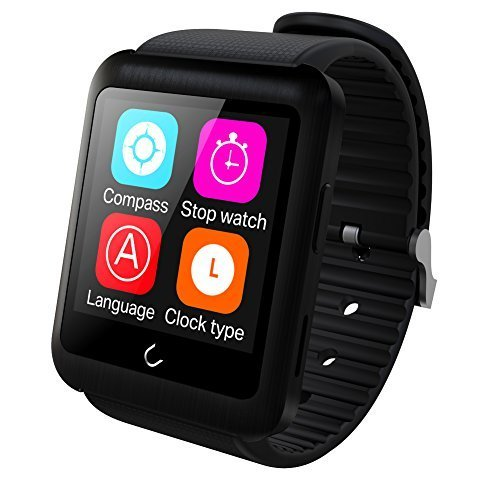 Leadercolor U11The World' s first SIM Card e guardare corpo separato gilet Shell Smart Watch Bluetooth 4.0Smartband con inserto di anche senza di utilizzato da solo compatibile con Android e iOS (nero)