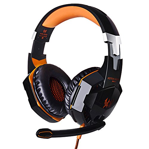 Festnight Each G2000 Over-Ear Gaming Headphone Headset Earphone Headband with Mic Stereo Bass LED Light for PC Game