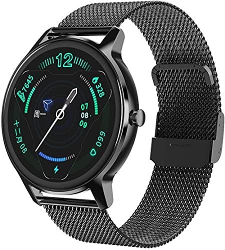 JSL Multi-deporte fitness tracker para pulseras de reloj inteligente para hombres y mujeres, IP67 impermeable multifunción monitor-negro e
