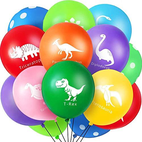 Jiahuade 50 Stück Dinosaurier Geburtstag Luftballons 12 Zoll Dinosaurier Latex Luftballons für Dinosaurier Partydekorationen