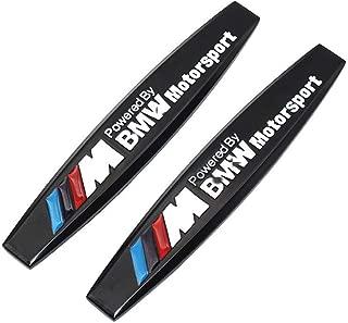 M Emblem 2pcs Metal M Emblem Badge Sticker Motorsport Power fit for BMW M3 M5 X1 X3 X5 X6 E30 E34 E36 E39 E46 E60 E90 E92 Metal 3D Chrome Badge Metal (Black)