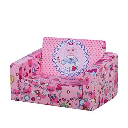 Sillón infantil plegable de espuma completa para preescolar (rosa)