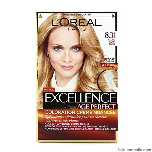 L'OREAL - Coloration - Age Perfect by Excellence Blondes - 8.31 blond clair beige