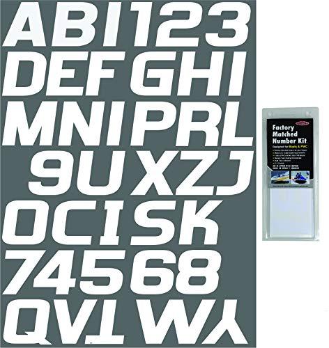 Hardline Products WHI700EC Solid White Factory Matched Registration Number Kit