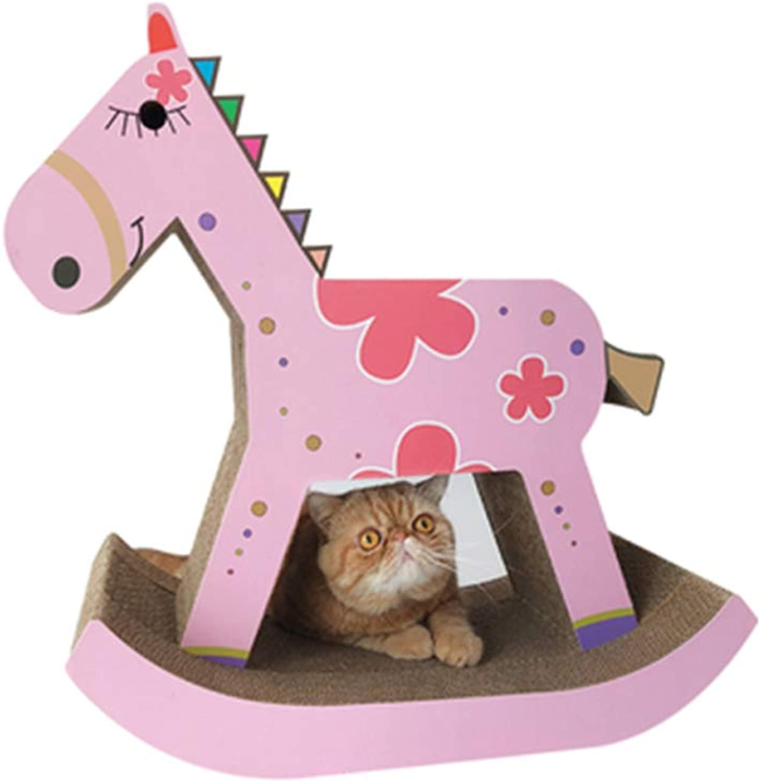 CXQ Creative Rocking Horse House Cat Climbing Frame Cat Scratch Board Cat Litter Sofa Cat Climbing Frame Cat Toy Pet Supplies