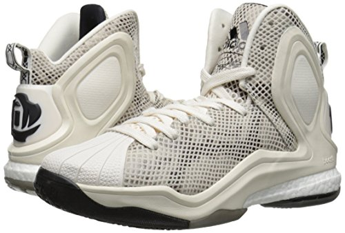 adidas Performance Men's D Rose 5 Boost Basketball Shoe, Chalk White, 13 M US