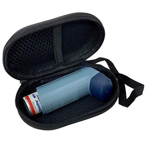 Agoz Asthma Inhalator-Tasche mit Reißverschluss, medizinische Tasche mit Handgelenkschlaufe, Schwarz