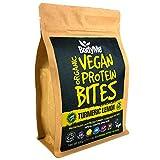 BodyMe Orgánica Proteínas Veganas Mordeduras De Bocados | Cruda Cúrcuma Limon | 500g | 100 Mordeduras | Con 3 Proteínas Vegetales