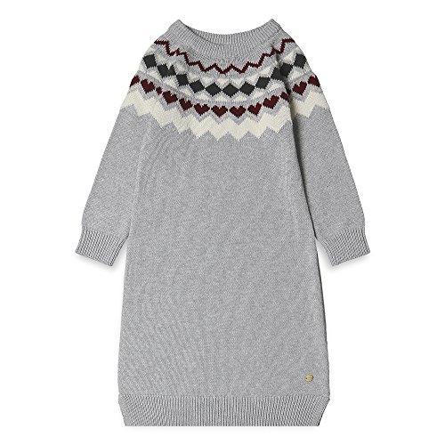 ESPRIT KIDS Mädchen RK30203 Kleid, Grau (Light Heather Grey 221), 104
