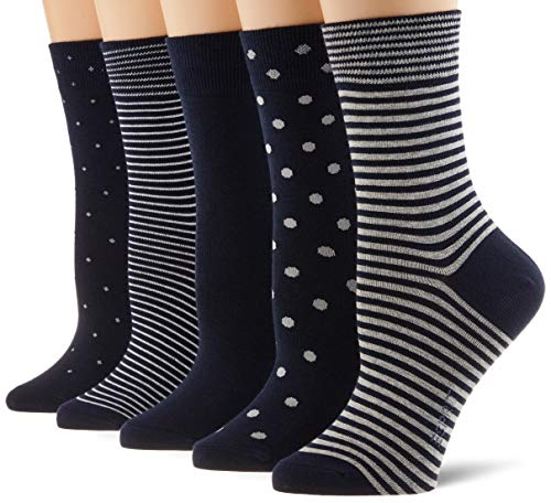 ESPRIT Damen Easy 5-Pack Socken, mehrfarbig (sortiment 0020), Einheitsgröße (DE 36-41) (5er Pack)