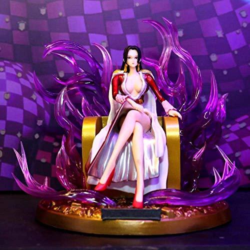JIANGCJ Hermosa 18 cm una Pieza Figura de acción Modelo Trono Boa Hancock Animado Personaje Modelo Estatua decoración Regalo jianyou