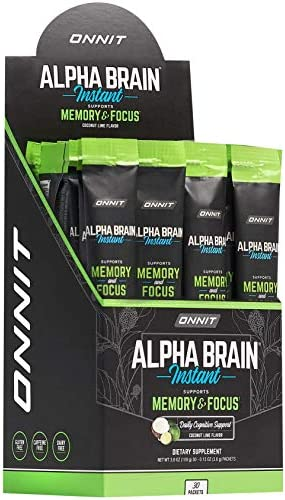 ONNIT Alpha Brain Instant Coconut Lime Flavor Nootropic Brain Booster Memory Supplement Brain product image