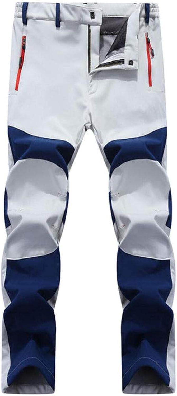 Amoystyle Winter Water-Resistant Fleece Lined Outdoor Pants Zipper Pockets