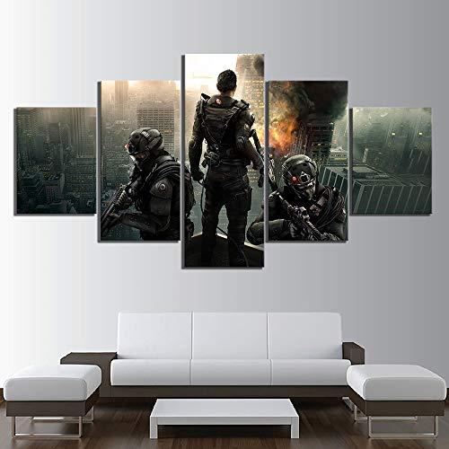 5-Delige Canvas Schilderij HD-Afdrukken Woondecoratie Tom Clancy's Rainbow Six Siege Videogames Muurillustraties Modulaire Foto's Posters,A,30x40x2+30x60x2+30x80x1