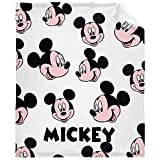 Muilti-Style Disney Minnie Mouse Blanket Throw Mickey Mouse Blanket Throw Kids Bedding Flannel Soft Lightweight Cozy Fade Resistant 80x60in Queen for Adult