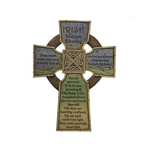 Abbey Gift Cathedral Art Irish Bedtime Blessing Cross, 6.75 x 9, Brown