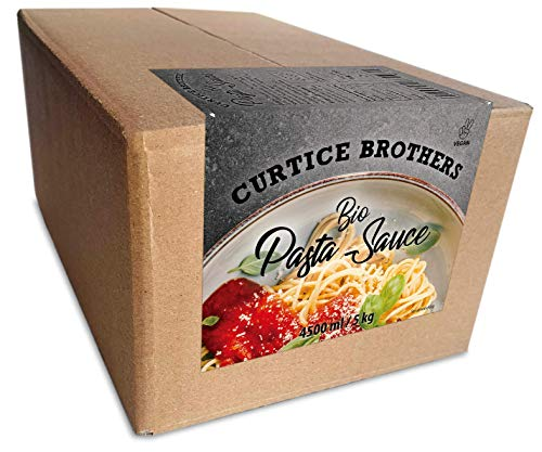 Curtice Brothers 5 kg BIO Tomaten Pasta Sauce - extra tomatig - Nudelsauce Tomato Pesto Tomatenmark-Alternative - Familien Vorratspackung