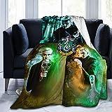 MONYO Flannel Blanket Warm Sofa Bed Blanket Soft Warm Living Room Bedroom All Season Super Soft Blanket Size 50X40 inch