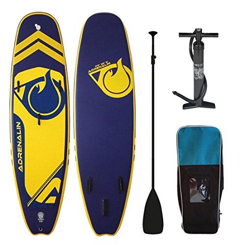 Adrenalin Stand Up Paddle Gonfiabile Player 98(294cm) Pack con pagaia, Borsa, Kit di Riparazione, Derive e Pompa, Pack basique